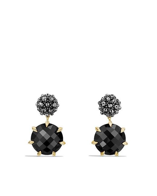 David Yurman - Osetra Drop Earrings With Black Onyx, Hematine And 18k Gold - Lyst