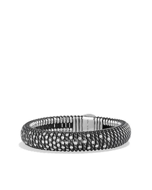 David Yurman | Black Tempo Bracelet With Diamonds | Lyst