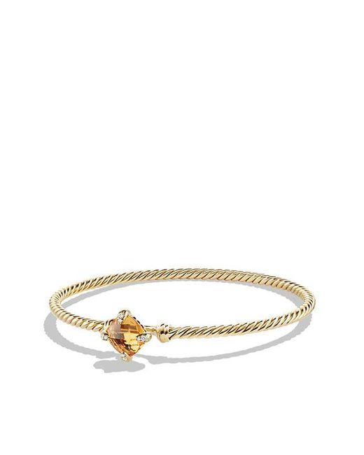 David Yurman - Metallic Chatelaine Bracelet With Citrine And Diamonds In 18k Gold, 8mm - Lyst