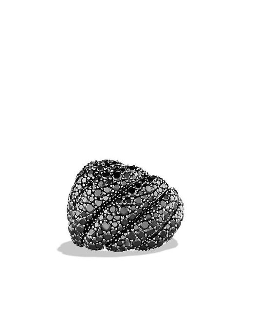 David Yurman - Hampton Cable Ring With Black Diamonds - Lyst
