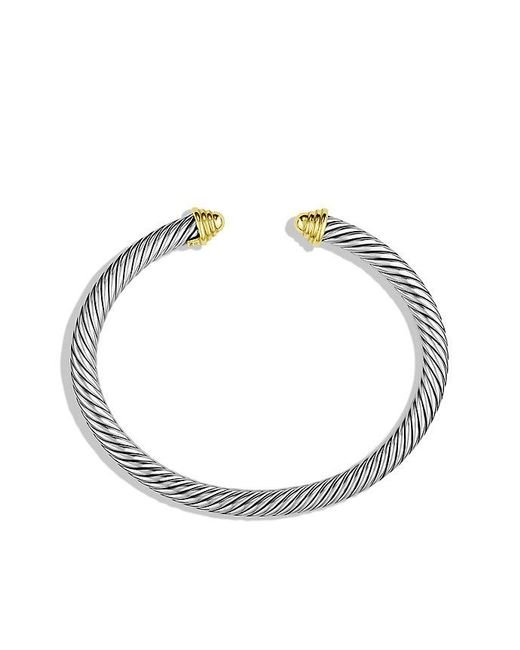 David Yurman | Metallic Cable Classics Bracelet With 14k Gold, 5mm | Lyst