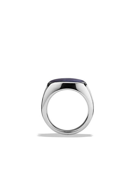 David Yurman | Metallic Knife-edge Signet Ring With Pietersite for Men | Lyst