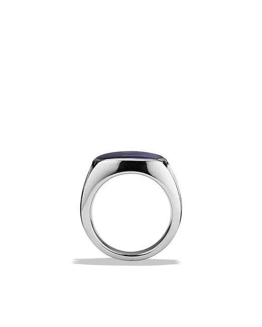 David Yurman - Metallic Knife-edge Signet Ring With Pietersite for Men - Lyst