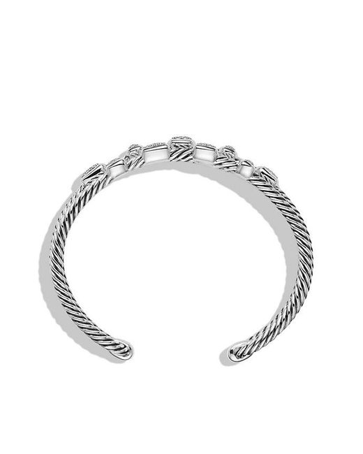 David Yurman - Metallic Confetti Narrow Cuff Bracelet With Diamonds, 16mm - Lyst