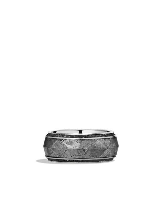 David Yurman | Metallic Meteorite Knife-edge Band Ring | Lyst