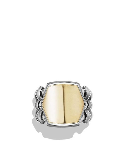 David Yurman | Metallic Armory Signet Ring With 18k Gold for Men | Lyst