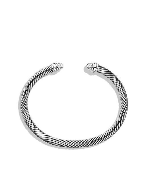 David Yurman | Metallic Cable Classics Bracelet With Diamonds, 5mm | Lyst