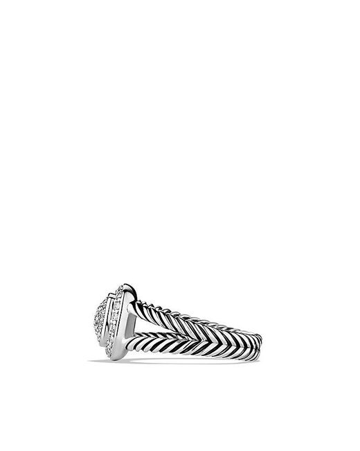 David Yurman | Metallic Petite Albion® Ring With Diamonds | Lyst