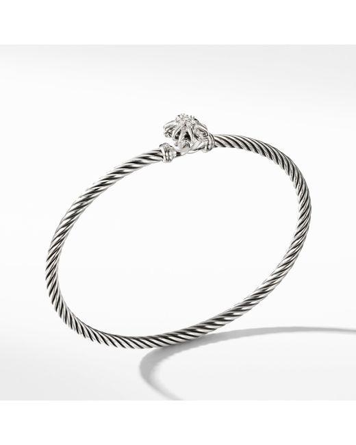 David Yurman - Metallic Starburst Bracelet With Diamonds, 3mm - Lyst