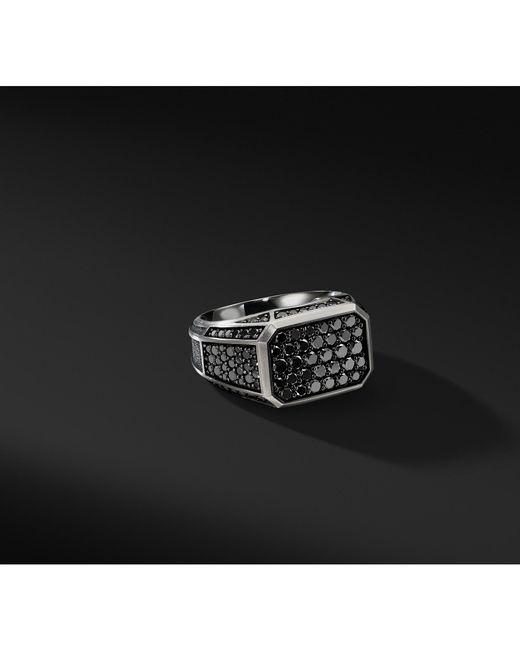 David Yurman - Streamline Pavé Signet Ring With Black Diamonds for Men - Lyst