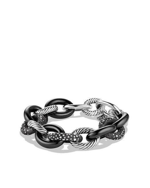 David Yurman | Blue Midnight Mélange Oval Large Link Bracelet With Diamonds, 20mm | Lyst