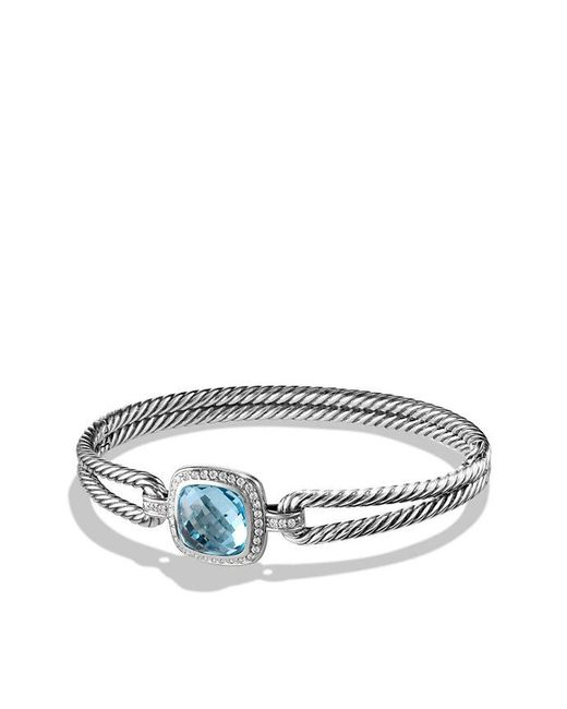 David Yurman | Albion® Bracelet With Blue Topaz And Diamonds, 11mm | Lyst
