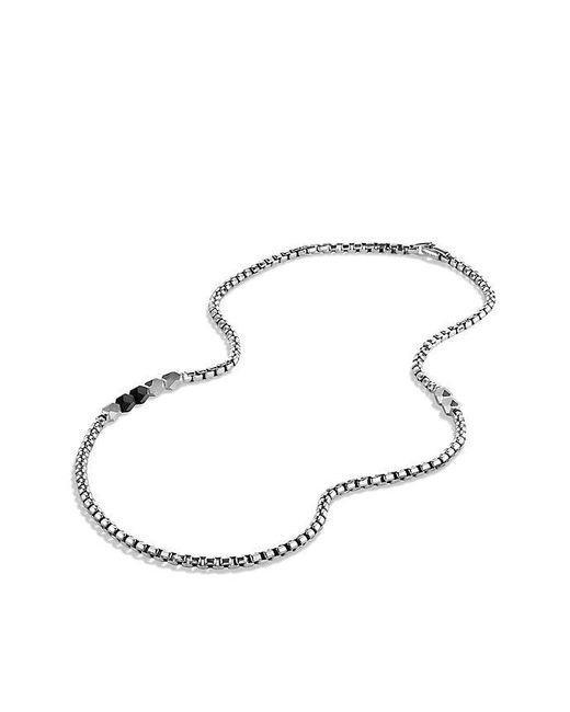 David Yurman | Metallic Faceted Metal Necklace With Black Onyx for Men | Lyst