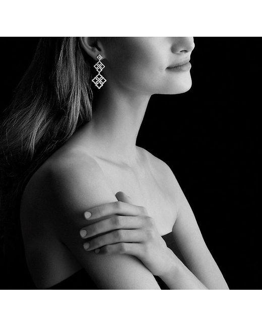 David Yurman | Venetian Quatrefoil Double-drop Earrings With Diamonds In 18k White Gold | Lyst