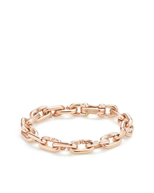 David Yurman - Metallic Chain Link Bold Bracelet In 18k Rose Gold - Lyst