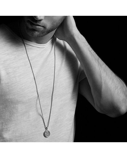 David Yurman | Metallic St. Christopher Amulet for Men | Lyst