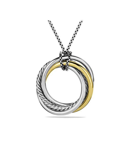 David Yurman - Metallic Crossover Pendant Necklace With 14k Gold - Lyst