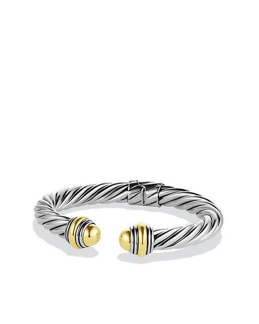 David Yurman - Metallic Cable Classics Bracelet With 14k Gold, 8.5mm - Lyst