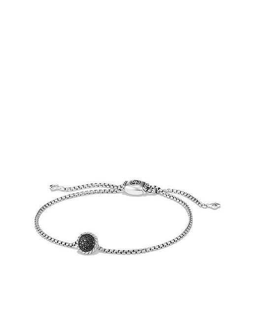 David Yurman | Metallic Petite Pave Bracelet With Black Diamonds | Lyst