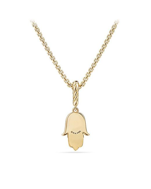 David Yurman | Metallic Cable Collectibles Hamsa Amulet In 18k Gold With Diamonds | Lyst