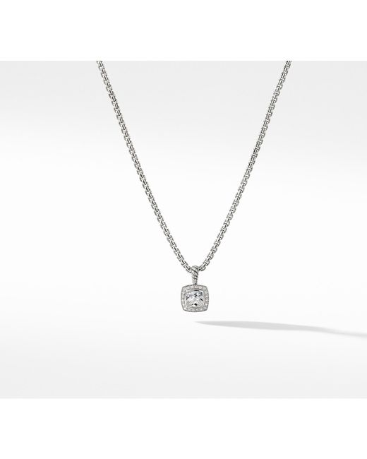 Lyst David Yurman Petite Albion Pendant Necklace With White Topaz