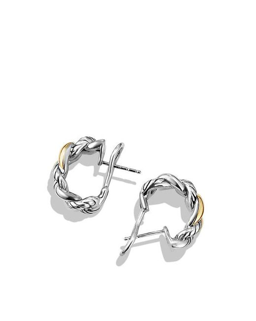 David Yurman - Metallic Belmont Curb Link Earrings With 18k Gold - Lyst