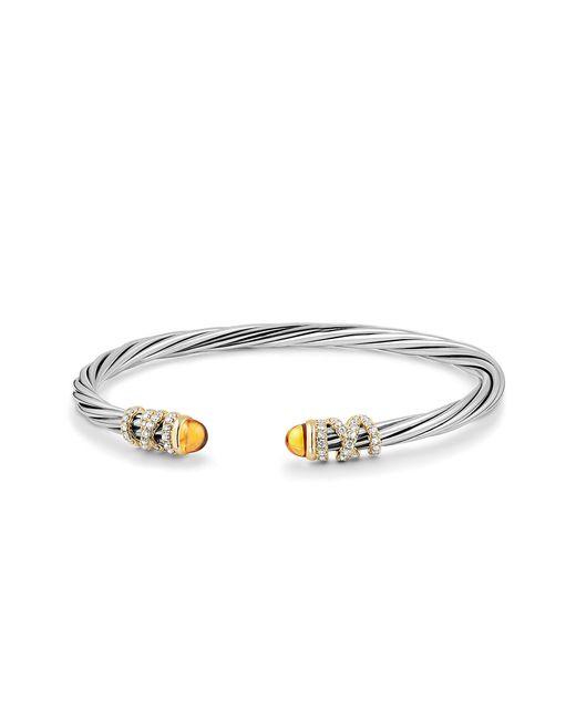 David Yurman - Metallic Helena End Station Bracelet With Gemstone, Diamonds And 18k Gold - Lyst