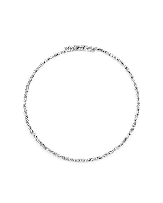 David Yurman | Pavéflex Single Row Necklace With Diamonds In 18k White Gold | Lyst