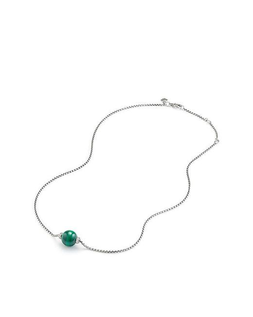 David Yurman - Metallic Solari Pendant Necklace With Diamonds And Malachite - Lyst