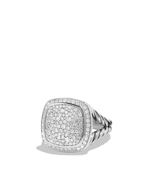 David Yurman - Gray Albion Ring With Diamonds - Lyst