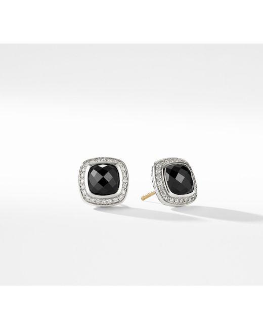 David Yurman - Albion® Earrings With Black Onyx And Diamonds, 7mm - Lyst