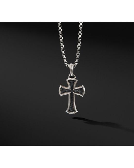 David Yurman - Metallic Cross Amulet for Men - Lyst