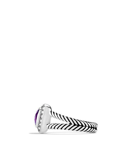 David Yurman | Metallic Petite Albion® Ring With Amethyst And Diamonds | Lyst