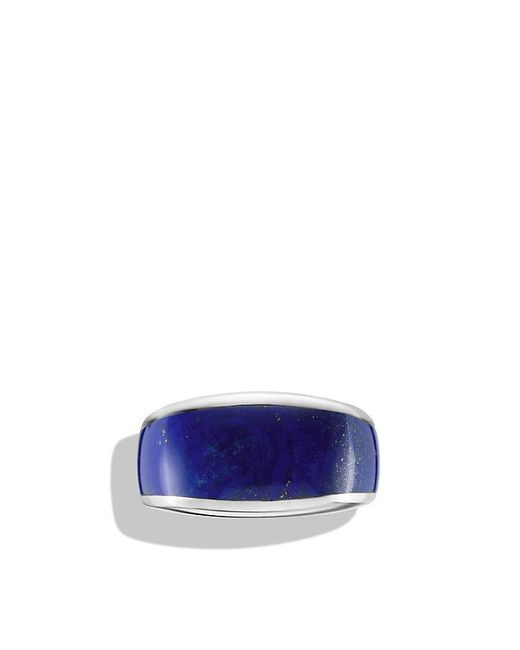 David Yurman | Metallic Exotic Stone Narrow Three-sided Ring With Lapis Lazuli for Men | Lyst