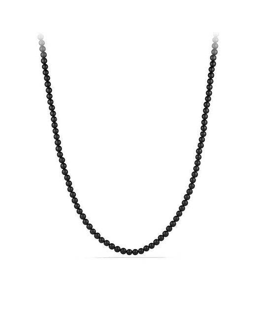 David Yurman - Spiritual Bead Necklace With Black Onyx for Men - Lyst