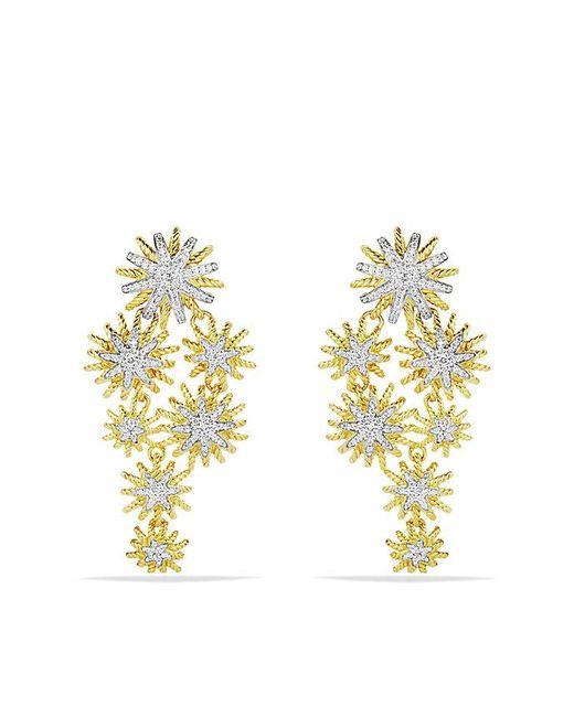 David Yurman | Metallic Staburst Cluster Earrings With Diamonds In Gold | Lyst