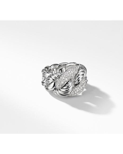 David Yurman - Metallic Belmont Curb Link Ring With Diamonds - Lyst