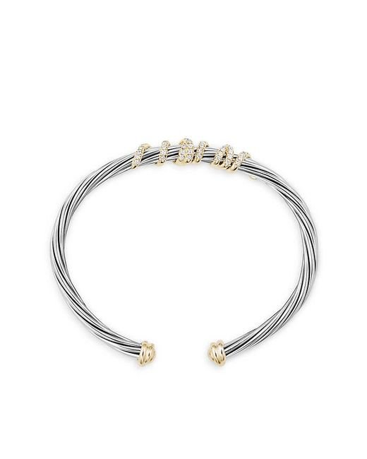 David Yurman   Metallic Helena Center Station Bracelet With Diamonds And 18k Gold   Lyst