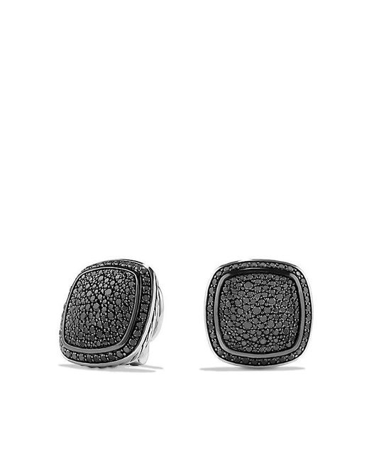 David Yurman | Albion Earrings With Black Diamonds, 14mm | Lyst