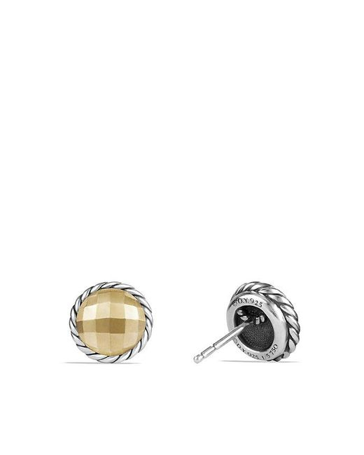 David Yurman | Metallic Chatelaine Earrings With 18k Gold | Lyst