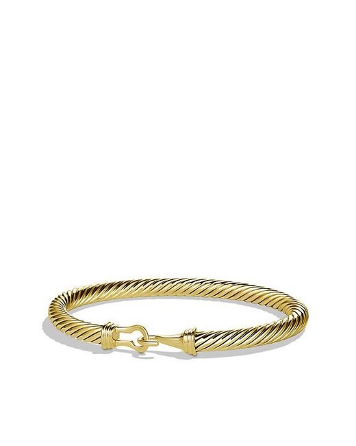 David Yurman | Metallic Cable Classic Buckle Bracelet In 18k Gold, 5mm | Lyst