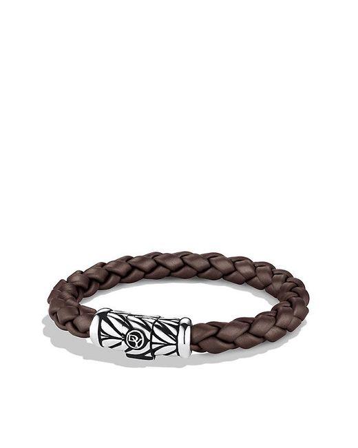 David Yurman   Chevron Rubber Weave Bracelet In Brown, 8mm for Men   Lyst