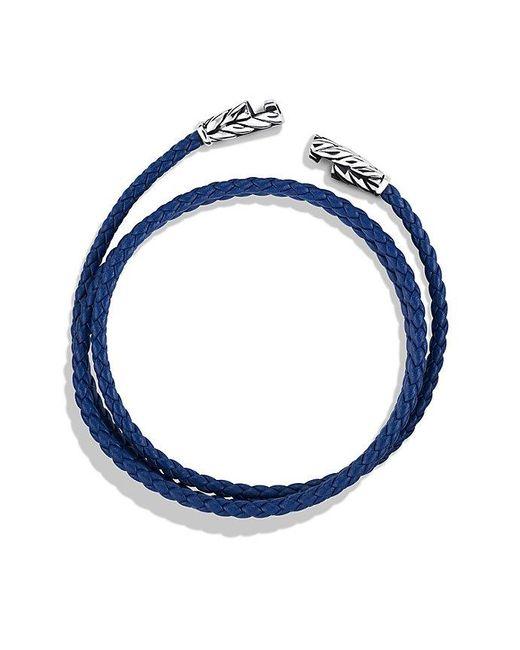 David Yurman | Chevron Triple-wrap Bracelet In Blue for Men | Lyst