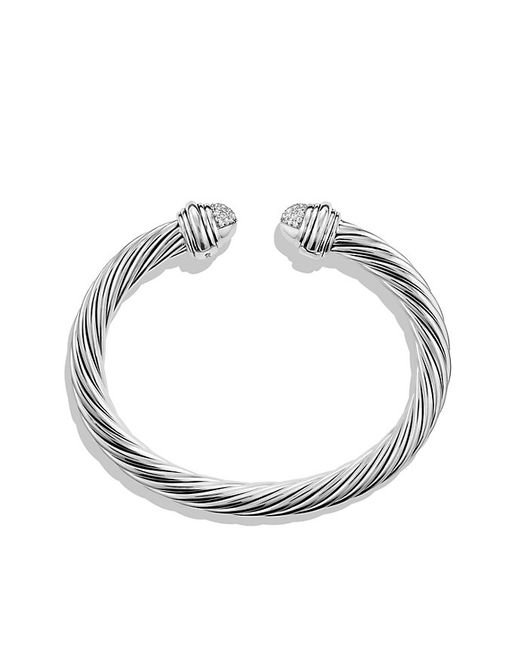 David Yurman | Metallic Cable Classics Bracelet With Prasiolite & Diamonds | Lyst