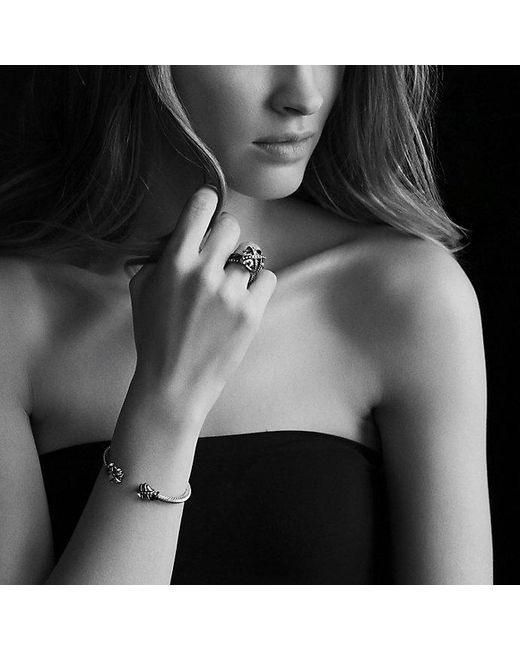 David Yurman | Cable Wrap Bracelet With Black Onyx And Diamonds In 18k Gold | Lyst