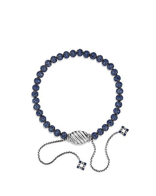 David Yurman | Petite Pavé Bracelet With Blue Sapphire | Lyst