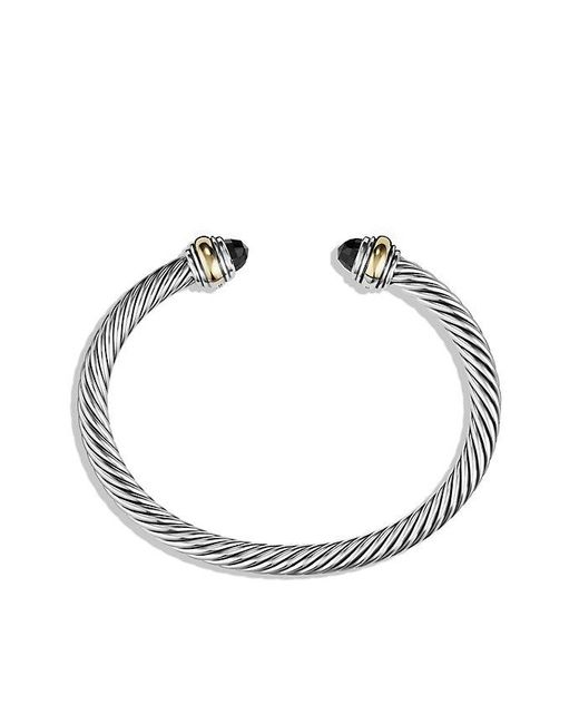 David Yurman | Cable Classic Bracelet With Black Onyx And 14k Gold, 5mm | Lyst
