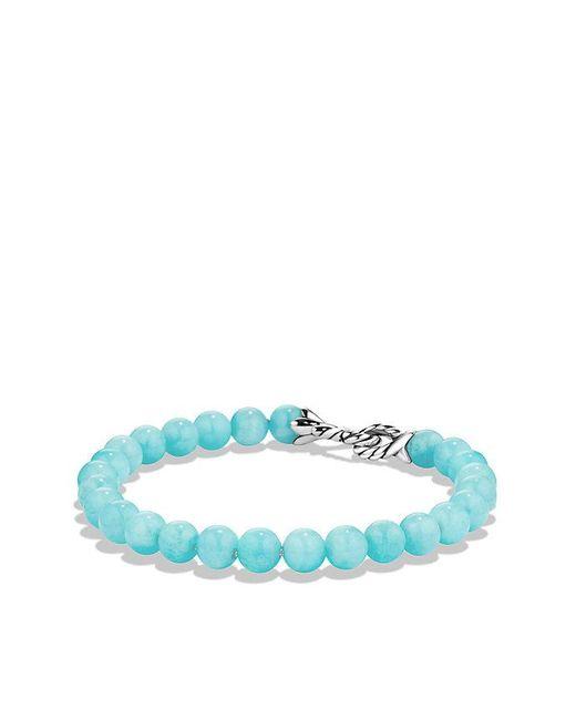 David Yurman | Blue Spiritual Beads Bracelet With Amazonite | Lyst
