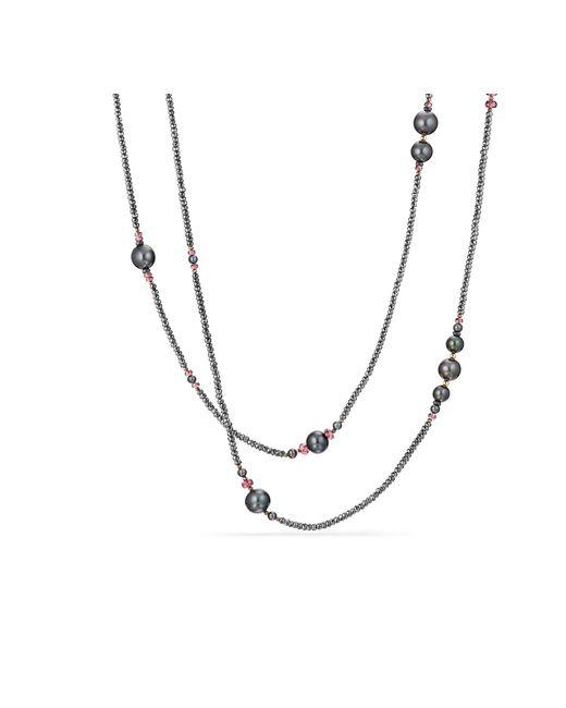 David Yurman - Metallic Oceanica Tweejoux Necklace With Pearls, Hematine And Rhodolite Garnet - Lyst