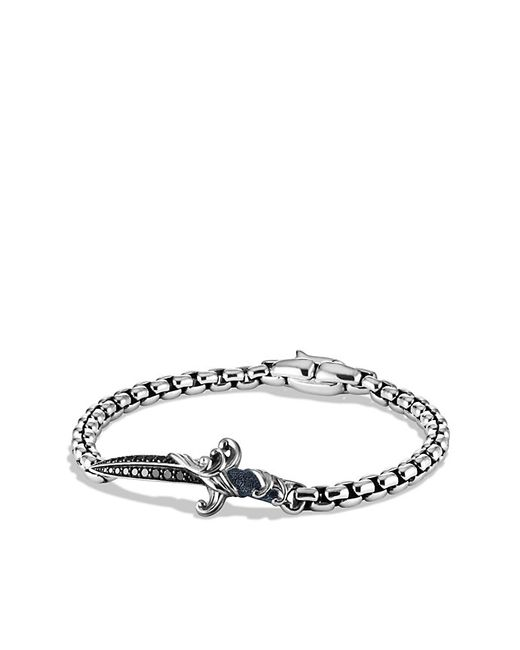 David Yurman | Waves Dagger Bracelet With Black Diamonds for Men | Lyst